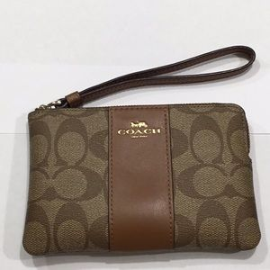 "Coach mini purse 6-1/4"" x 4-1/8"" slightly used."